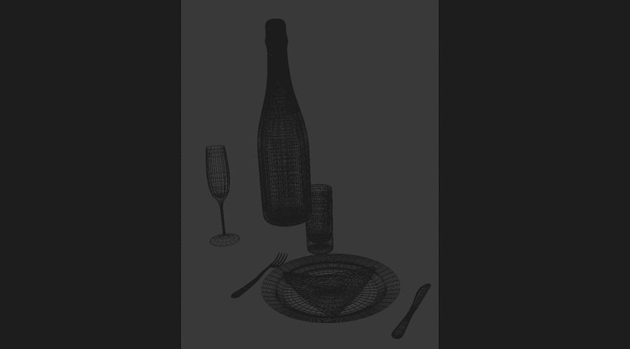 Table serving royalty-free 3d model - Preview no. 2