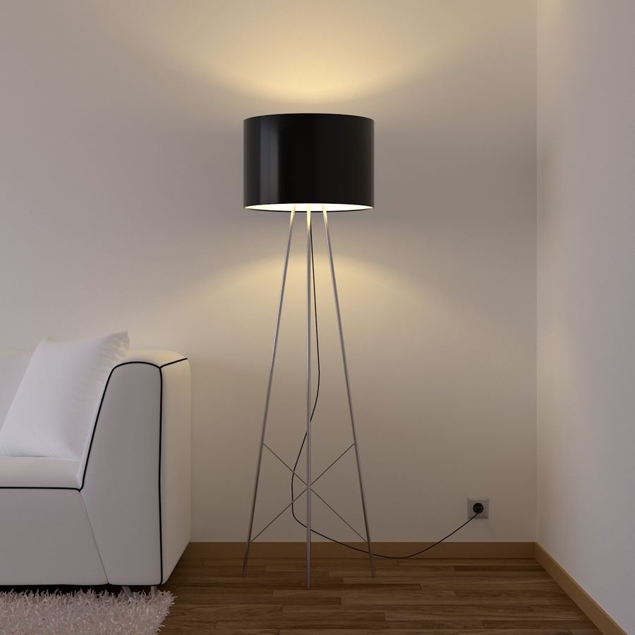 Sala de estar royalty-free 3d model - Preview no. 2