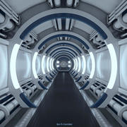 Corridoio Spaceship di Sci Fi 3d model