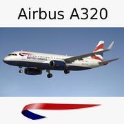 Airbus A320 British Airways 3d model