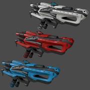 Science-Fiction-Waffe 3d model