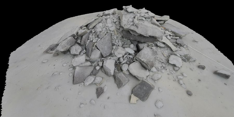 Rubble and Debris royalty-free 3d model - Preview no. 4