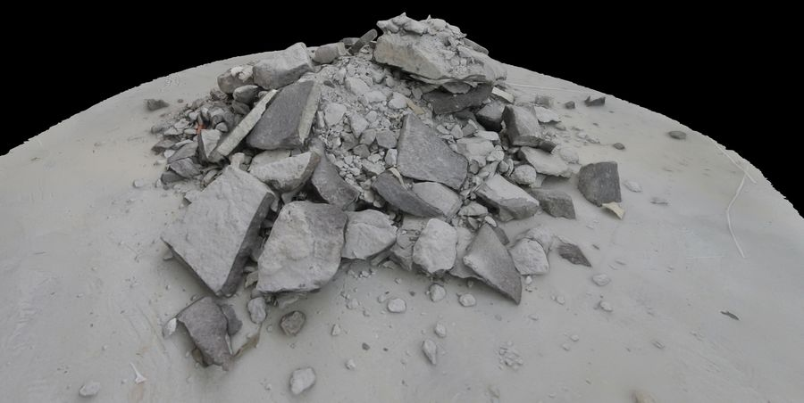 Rubble and Debris royalty-free 3d model - Preview no. 3