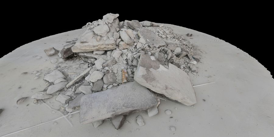 Rubble and Debris royalty-free 3d model - Preview no. 7