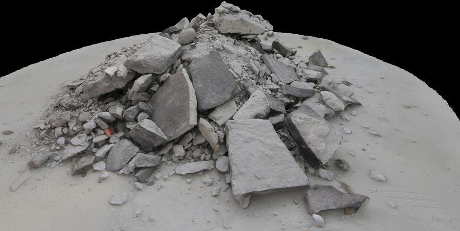 Rubble and Debris royalty-free 3d model - Preview no. 1
