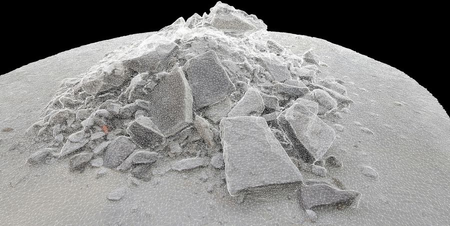 Rubble and Debris royalty-free 3d model - Preview no. 2