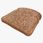 Bread Slice (Dark) 3d model