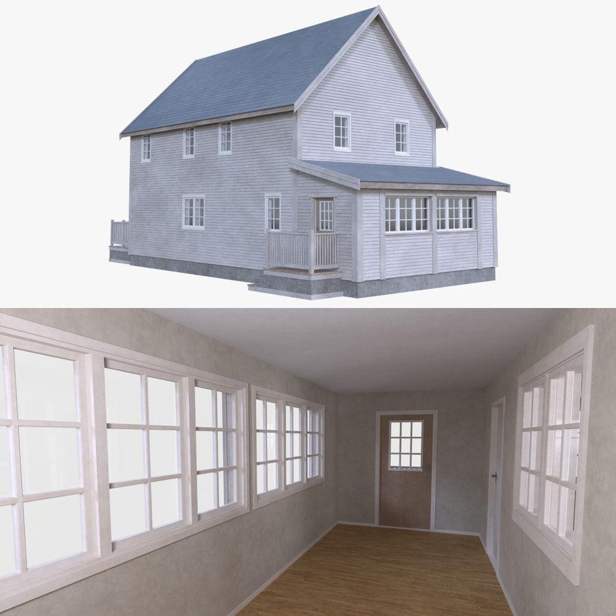 Maison cinq avec intérieur complet modèle 3D $39 - .obj .fbx ...