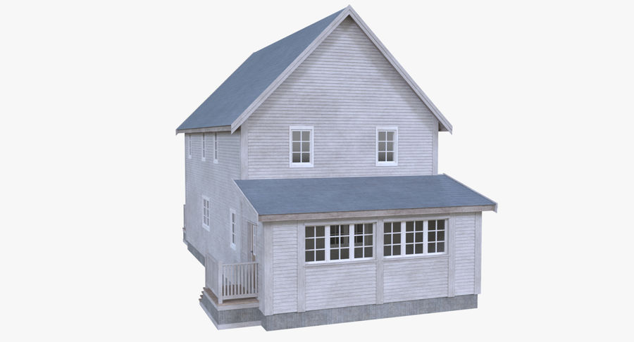 Maison cinq avec intérieur complet modèle 3D $39 - .obj .fbx .dae ...