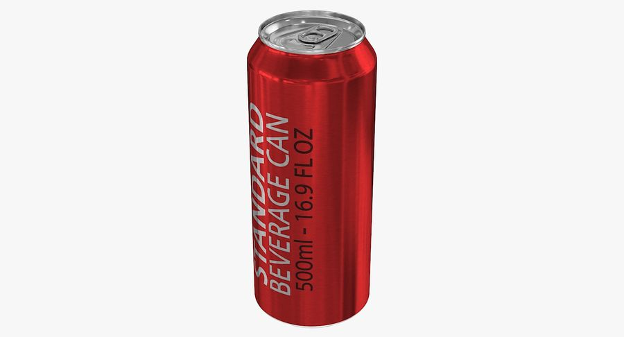 500ml 16.9oz Standard Beverage Can royalty-free 3d model - Preview no. 5