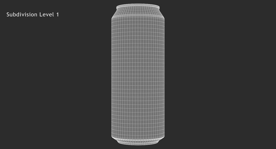 500ml 16.9oz Standard Beverage Can royalty-free 3d model - Preview no. 15