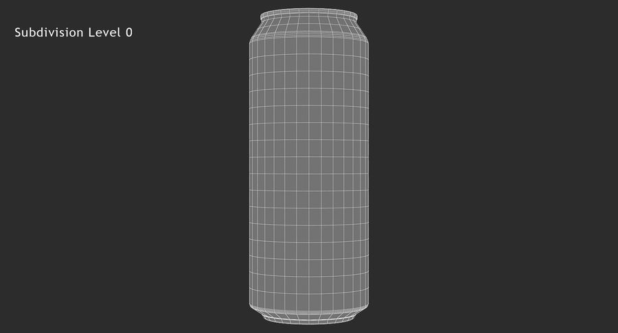 500ml 16.9oz Standard Beverage Can royalty-free 3d model - Preview no. 14