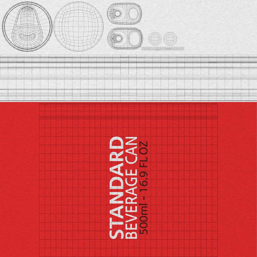 500ml 16.9oz標準飲料缶 royalty-free 3d model - Preview no. 24