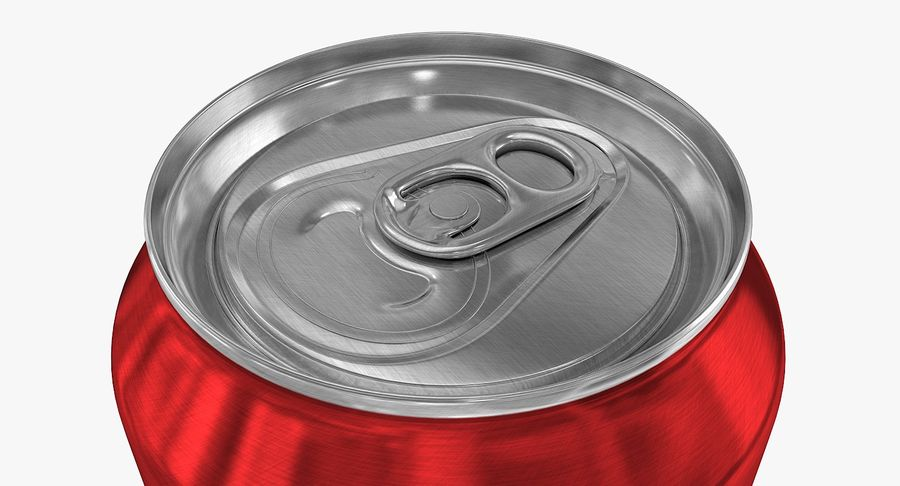 500ml 16.9oz Standard Beverage Can royalty-free 3d model - Preview no. 6