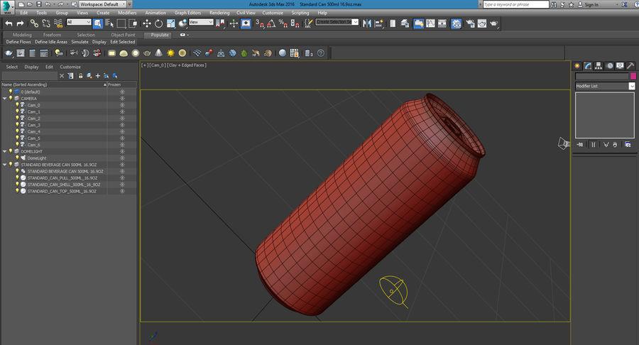 500ml 16.9oz標準飲料缶 royalty-free 3d model - Preview no. 25
