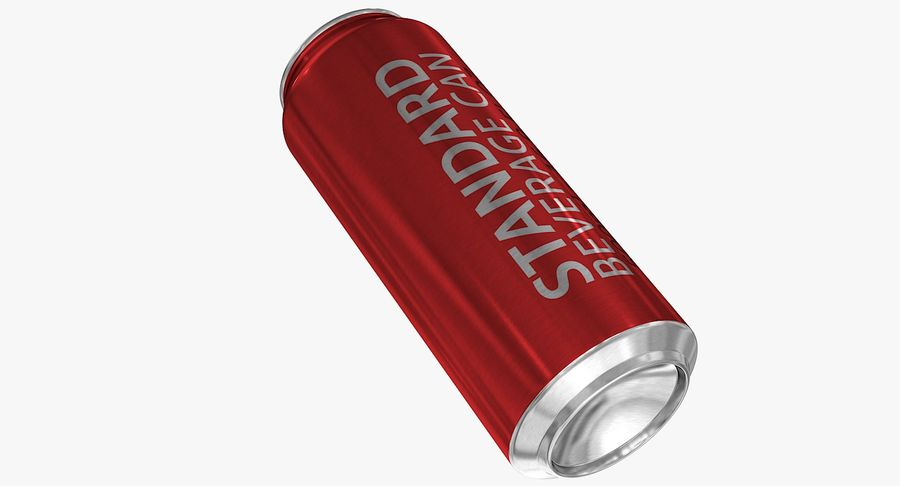 500ml 16.9oz Standard Beverage Can royalty-free 3d model - Preview no. 9
