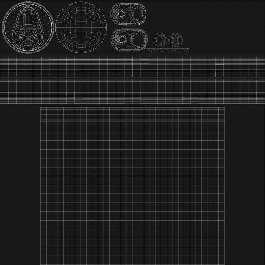 500ml 16.9oz標準飲料缶 royalty-free 3d model - Preview no. 23