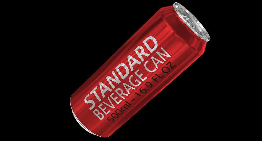500ml 16.9oz標準飲料缶 royalty-free 3d model - Preview no. 3