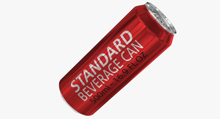 500ml 16.9oz Standard Beverage Can royalty-free 3d model - Preview no. 2