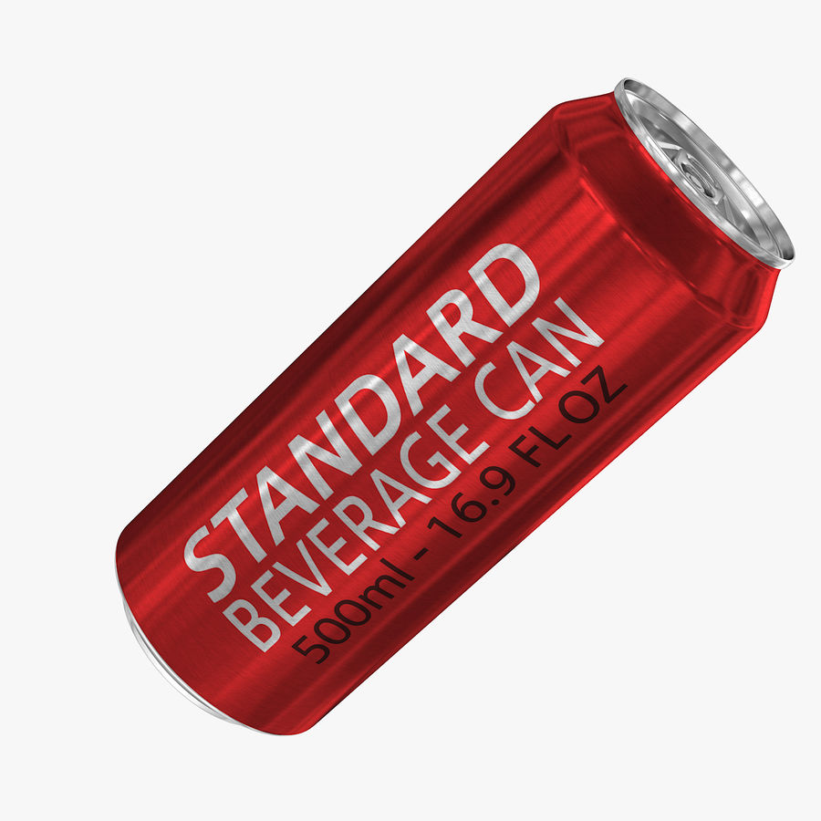 500ml 16.9oz Standard Beverage Can royalty-free 3d model - Preview no. 1