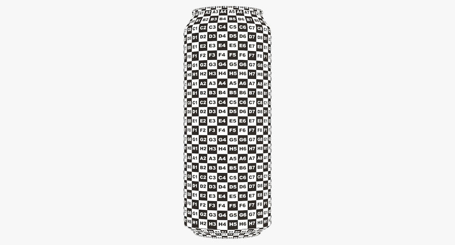 500ml 16.9oz Standard Beverage Can royalty-free 3d model - Preview no. 21