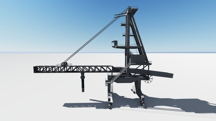 Port crane_Sploader royalty-free 3d model - Preview no. 2