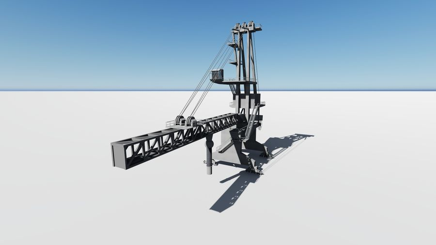 Port crane_Sploader royalty-free 3d model - Preview no. 7