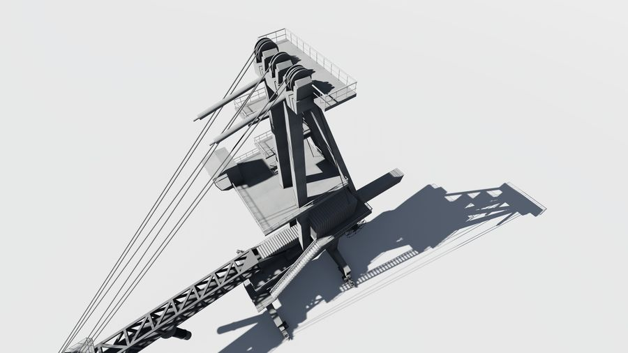 Port crane_Sploader royalty-free 3d model - Preview no. 9