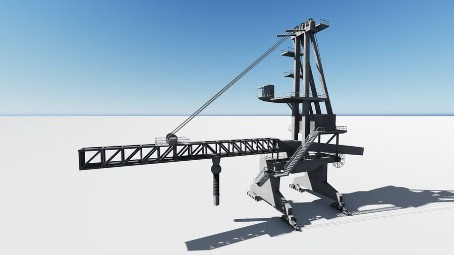 Port crane_Sploader royalty-free 3d model - Preview no. 1