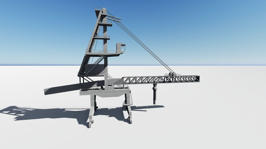 Port crane_Sploader royalty-free 3d model - Preview no. 5