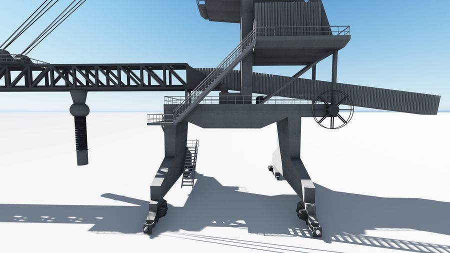 Port crane_Shiploader royalty-free 3d model - Preview no. 8