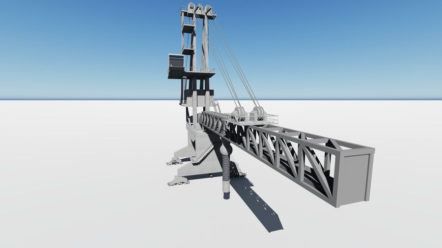 Port crane_Shiploader royalty-free 3d model - Preview no. 6
