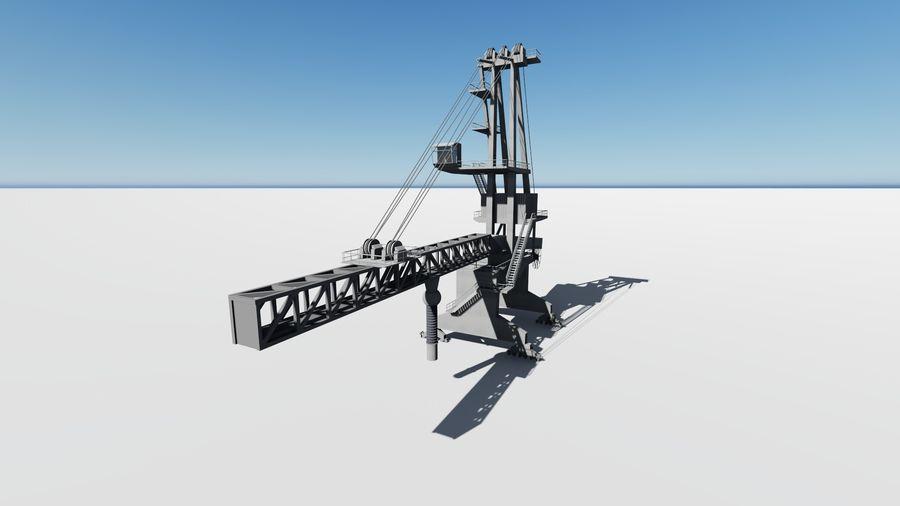 Port crane_Shiploader royalty-free 3d model - Preview no. 7