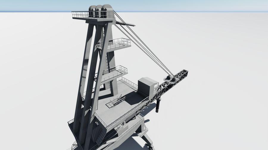 Port crane_Shiploader royalty-free 3d model - Preview no. 10