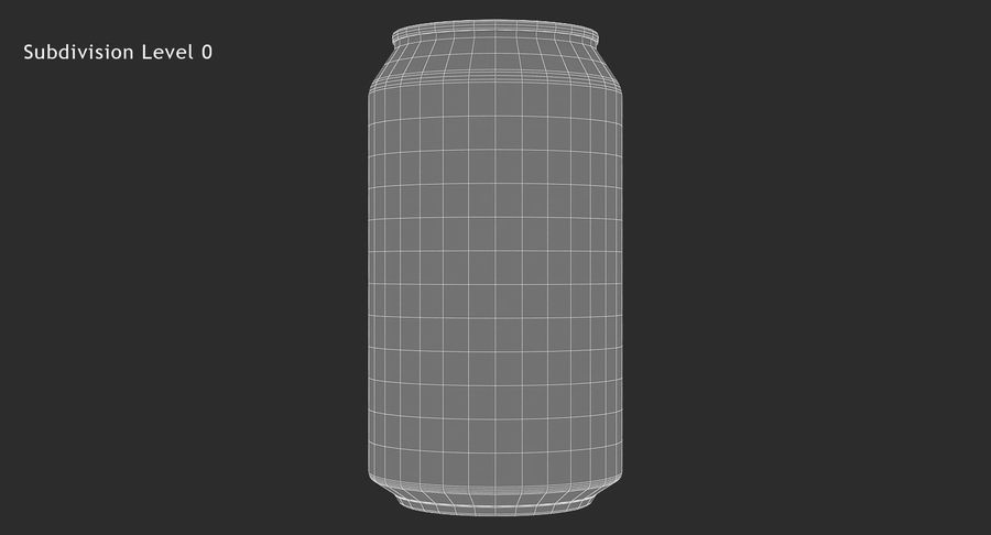355ml 12oz Standard Beverage Can royalty-free 3d model - Preview no. 14