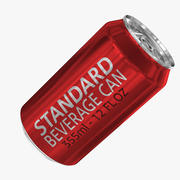 355ml 12oz Standard Beverage Can 3d model