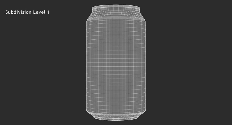 355ml 12oz Standard Beverage Can royalty-free 3d model - Preview no. 15