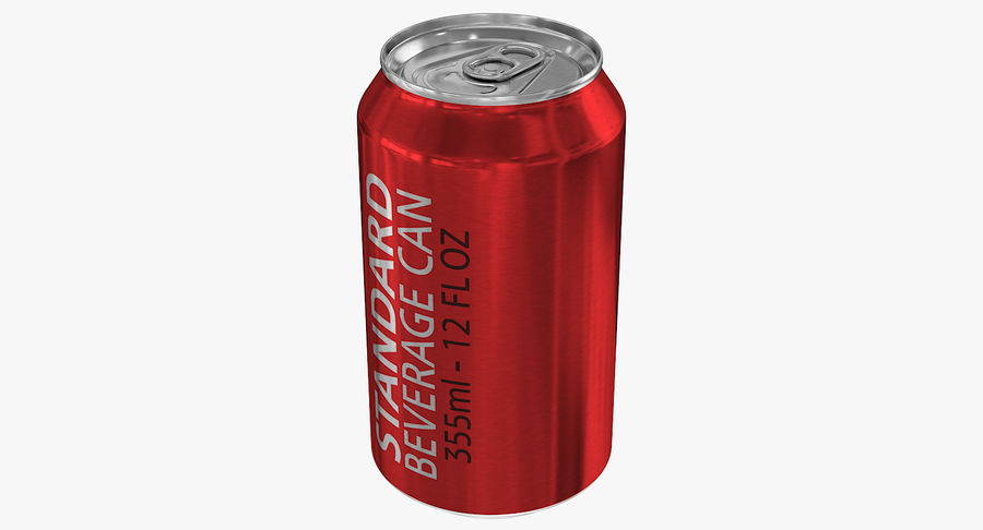 355ml 12oz Standard Beverage Can royalty-free 3d model - Preview no. 5