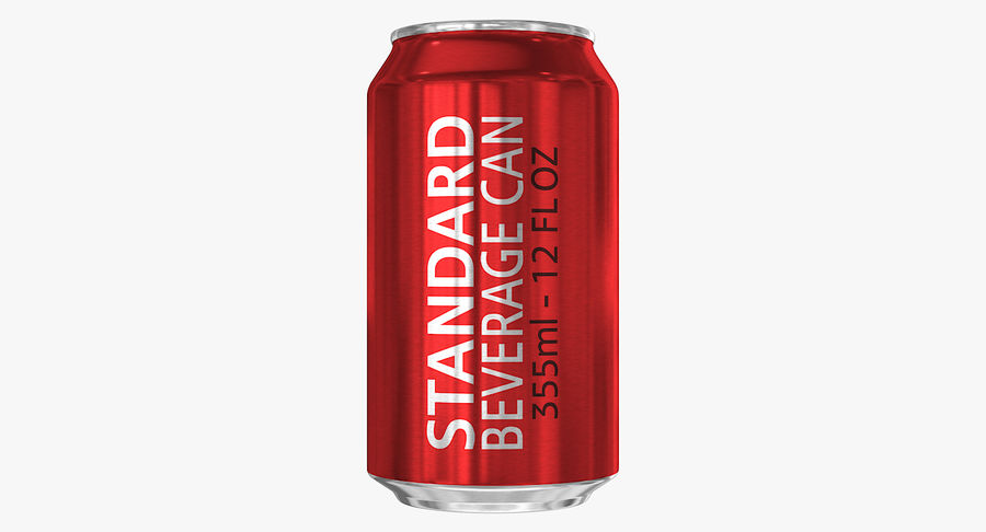 355ml 12oz Standard Beverage Can royalty-free 3d model - Preview no. 4