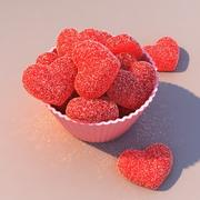Jelly Candy Hearts 3d model