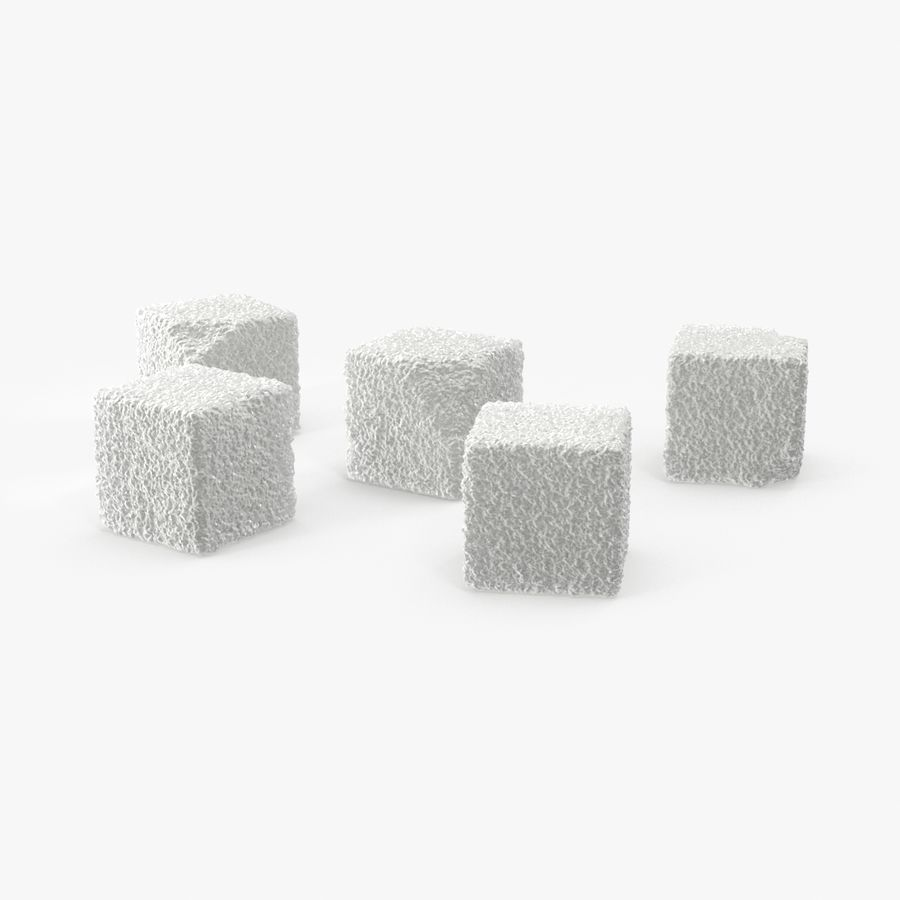 Sugar Cubes royalty-free 3d model - Preview no. 1