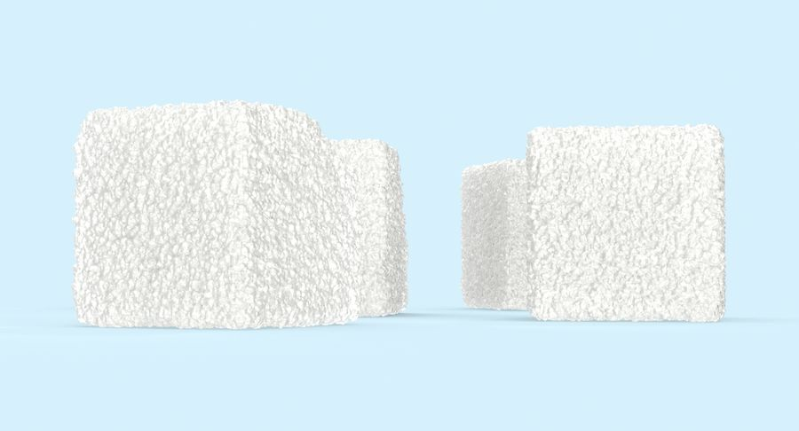 Sugar Cubes royalty-free 3d model - Preview no. 7