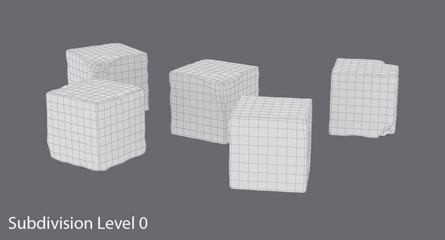 Sugar Cubes royalty-free 3d model - Preview no. 12