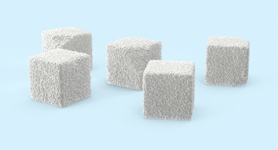 Sugar Cubes royalty-free 3d model - Preview no. 3