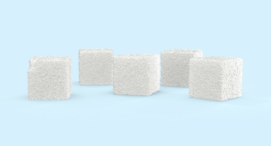 Sugar Cubes royalty-free 3d model - Preview no. 6