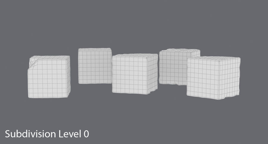 Sugar Cubes royalty-free 3d model - Preview no. 14