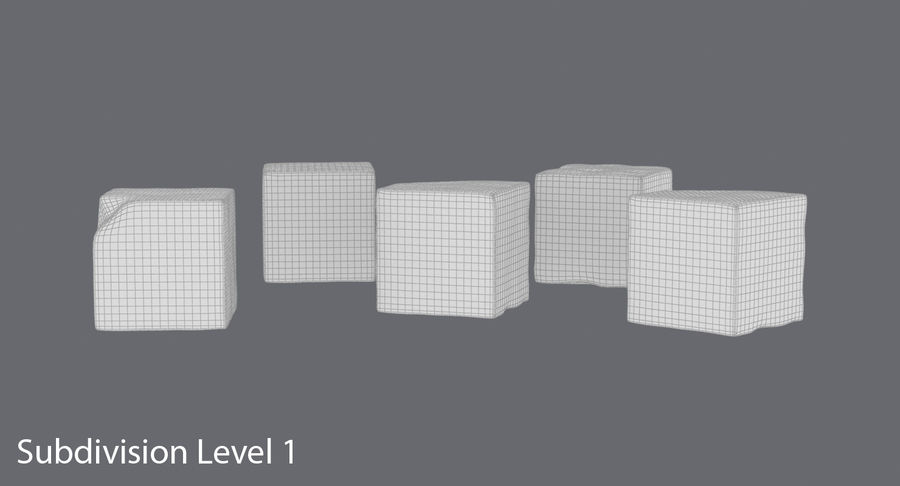 Sugar Cubes royalty-free 3d model - Preview no. 17