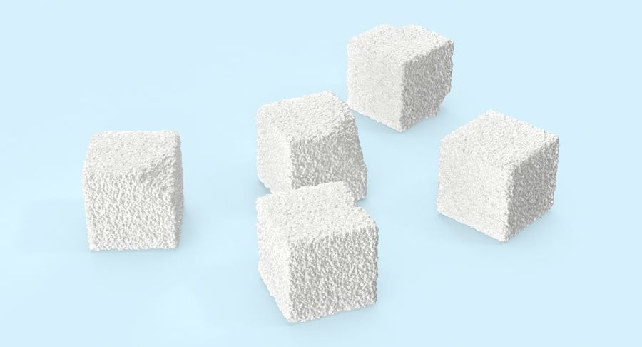 Sugar Cubes royalty-free 3d model - Preview no. 8