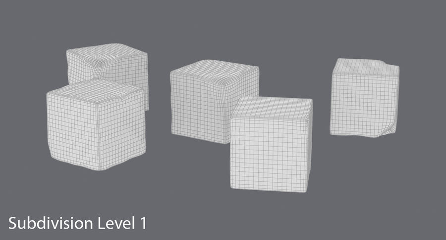 Sugar Cubes royalty-free 3d model - Preview no. 15