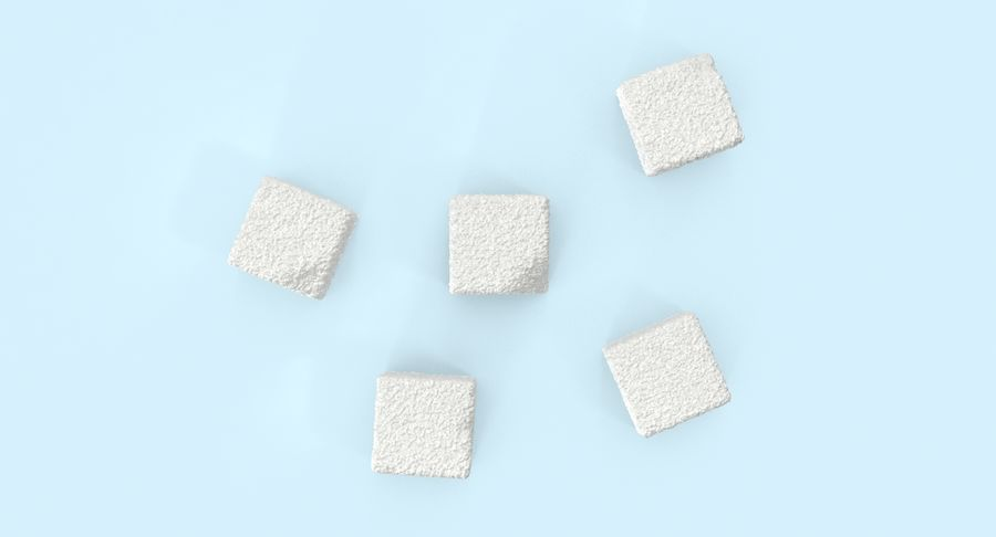 Sugar Cubes royalty-free 3d model - Preview no. 5